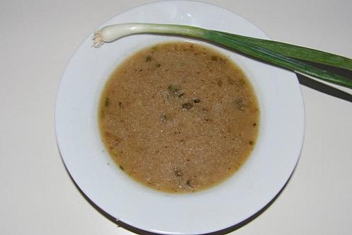 geroestete griessuppe