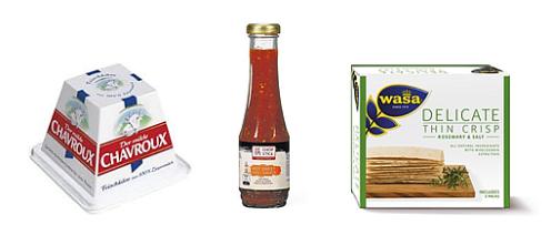 Ziegenfrischkäse mit HSC Sauce