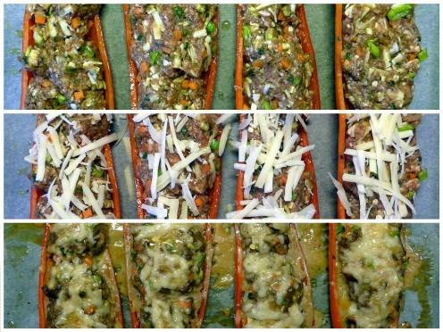 Gefüllte Peperoni Collage