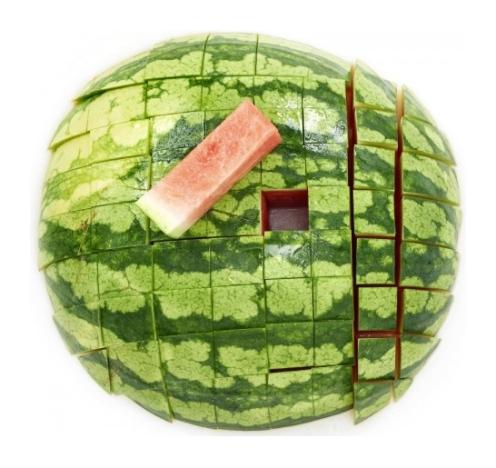 Wassermelone Partytauglich